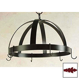 Hanging Pot Rack, Domed With 8 Hooks (Deep Red) by