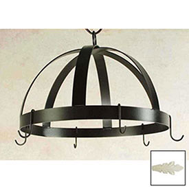 Hanging Pot Rack, Domed With 8 Hooks (Ivory) by