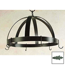 Hanging Pot Rack, Domed With 8 Hooks (Jade Teal) by