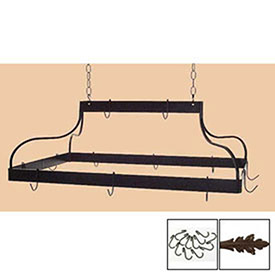 Hanging Pot Rack, Mediterranean With 12 Hooks & Chain (Deep Bronze) by