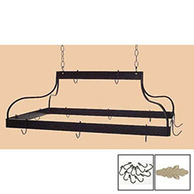 Hanging Pot Rack, Mediterranean With 12 Hooks & Chain (Stone) by