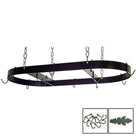 "Hanging Pot Rack, Oval With 12 Hooks & Chain 36"" (Jade Teal) by"