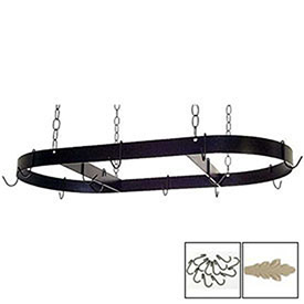 "Hanging Pot Rack, Oval With 12 Hooks & Chain 36"" (Stone) by"