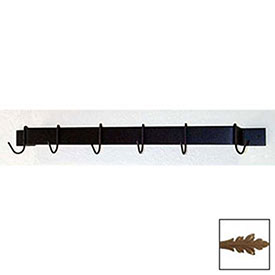 "Utility Bar Pot Rack With Six Hooks 24"" (Burnished Copper) by"