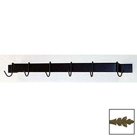 "Utility Bar Pot Rack With Six Hooks 24"" (Antique Bronze) by"