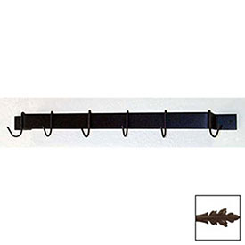"Utility Bar Pot Rack With Six Hooks 24"" (Deep Bronze) by"
