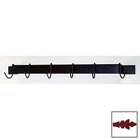 "Utility Bar Pot Rack With Six Hooks 24"" (Deep Red) by"