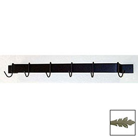 "Utility Bar Pot Rack With Six Hooks 24"" (Gun Metal) by"