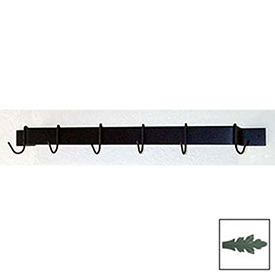 """Utility Bar Pot Rack With Six Hooks 24"""" (Jade Teal) by"""