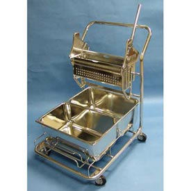 Stainless Steel Trolley W/ (2) 29-Quart Buckets For Cleanrooms by