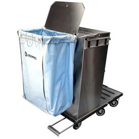 Buy Escort RX Stainless Steel Housekeeping Cart W/ Folding Tray and Vacuum Carrier