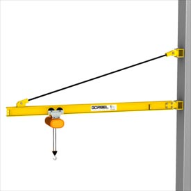 Gorbel® HD Wall Bracket Jib Crane, 14' Span & 200° Rotation, 1000 Lb Capacity