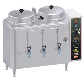 Coffee Urn, Twin 3 Gallon, Push Button Agitator by