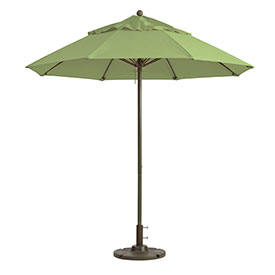 Grosfillex 9' Windmaster Fiberglass Outdoor Umbrella Pistachio by