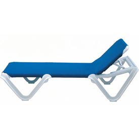 Grosfillex® Nautical Sling Chaise - Blue (Sold in Pk. Qty 12) - Pkg Qty 12