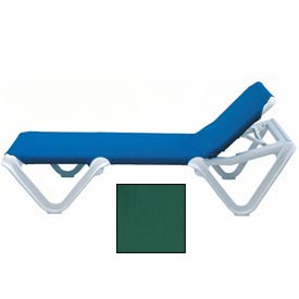 Grosfillex® Nautical Sling Chaise - Hunter Green (Sold in Pk. Qty 12) - Pkg Qty 12