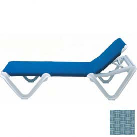Grosfillex® Nautical Sling Chaise - Spa Blue Sling / White Frame (Sold in Pk. Qty 2) - Pkg Qty 2
