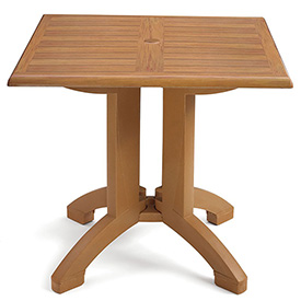 "Grosfillex Atlanta 32"" Square Outdoor Table Teak by"