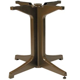 Grosfillex® Alpha Resin Large Outdoor Pedestal Table Base 2000 - Bronze Mist