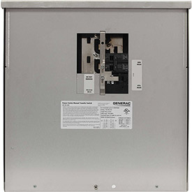 Generac 200-Amp 12,500-Watt Non-Fuse Outdoor Manual Transfer Switch by