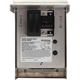 Generac 30 Amp 125/250-Volt 7,500-Watt 1-Circuit Manual Transfer Switch by