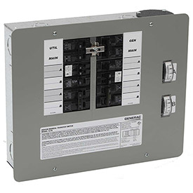 Generac 30-Amp 7500-Watt Indoor Manual Transfer Switch for 10-16 Circuits by