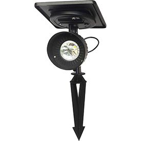 Click here to buy Gama Sonic 103001-5 Progressive Solar Spotlight, Warm-White LED, Black.