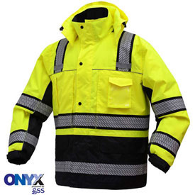 GSS Saftey 8505 3-In-1 Waterproof Parka, Class 3, Lime/Black, XL by