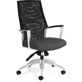 Global™ Mesh Back Office Chair - Fabric - High Back - Gray - Accord Series