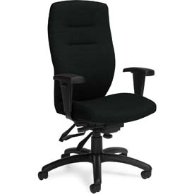 Global™ Office Chair with Multi-Tilt- Fabric - High Back - Black - Synopsis Series