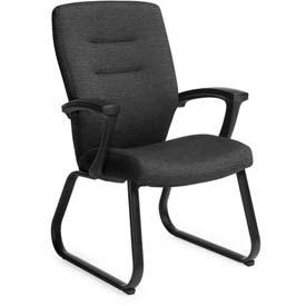 Global™ Guest Chair with Arms - Fabric - Black - Synopsis Series