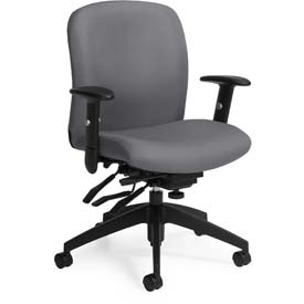 Global™ Office Task Chair - Fabric - Mid Back - Slate - Truform Series