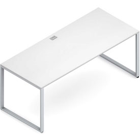 "Buy Global Wood Desk with Metal Legs 30""D x 72""W x 29""H White Princeton Series"