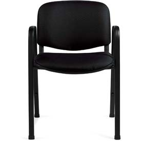Offices To Go™ Stacking Chair - Fabric - Black