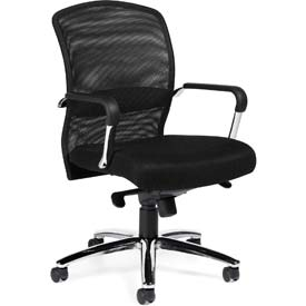 Offices To Go™ Mesh Back Managers Chair -Fabric - Black