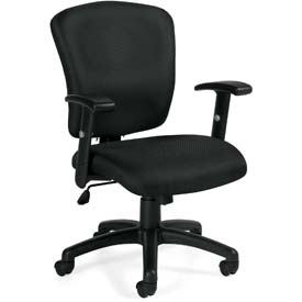 Offices To Go™ Multifunction Manager's Chair - Fabric - Black