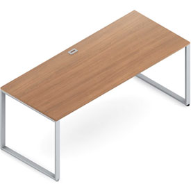 "Buy Global Wood Desk with Metal Legs 30""D x 72""W x 29""H Cherry Princeton Series"