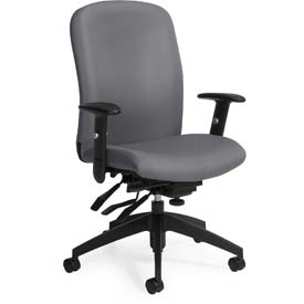 Global™ Office Task Chair - Fabric - High Back - Slate - Truform Series