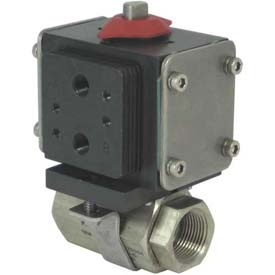 Gemini Valve® S/S Ball Valve W/500 Series Double-Acting Pneumatic Actuator, 1-1/2""