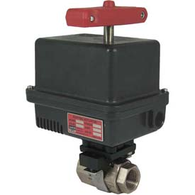 Gemini Valve® 316 S/S Barstock Ball Valve W/600 Series 24DC Electric Actuator, 1-1/2""