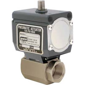 """Gemini Valve® High Duty Cycle S/S Ball Valve W/Double-Acting Pneumatic Actuator, 1/4"""""""