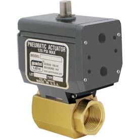Gemini Valve® High Duty Cycle Ball Valve W/Double-Acting Pneumatic Actuator, 3/4""