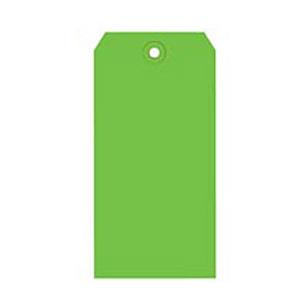 "#4 Light Green Shipping Tag Pack 4-1/4"" x 2-1/8"" - 1000 Pack"