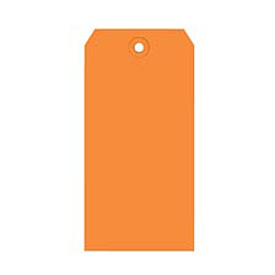 "#8 Orange Shipping Tag Pack 6-1/4"" x 3-1/8"" - 1000 Pack"
