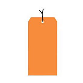 "#4 Orange Strung Tag Pack 4-1/4"" x 2-1/8"" - 1000 Pack"