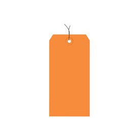 "#7 Orange Wired Tag Pack 5-3/4"" x 2-7/8"" - 1000 Pack"