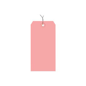 "#2 Pink Wired Tag Pack 3-1/4"" x 1-5/8"" - 1000 Pack"