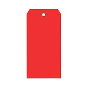 "#7 Red Shipping Tag Pack 5-3/4"" x 2-7/8"" - 1000 Pack"