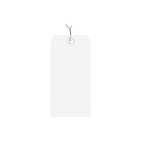 "#4 White Wired Tag Pack 4-1/4"" x 2-1/8"" - 1000 Pack"