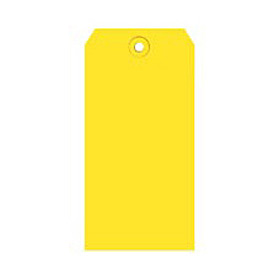 "#5 Yellow Shipping Tag Pack 4-3/4"" x 2-3/8"" - 1000 Pack"